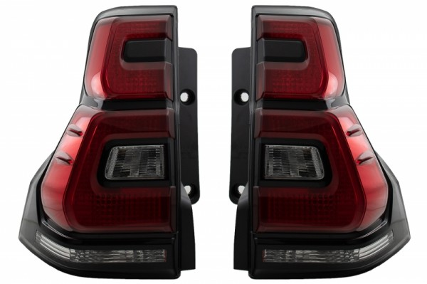 Taillights Led suitable for TOYOTA Land Cruiser FJ150 Prado (2010-2018) Red Clear Light Bar 2018+ Design
