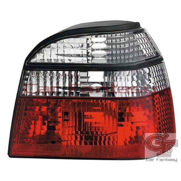 Taillights VW Golf III Clear Red/White