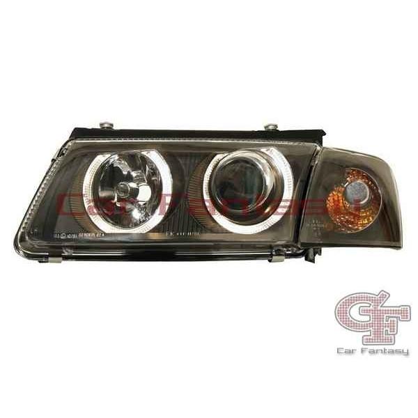 Headlights VW Passat 3B Angel Eyes Black
