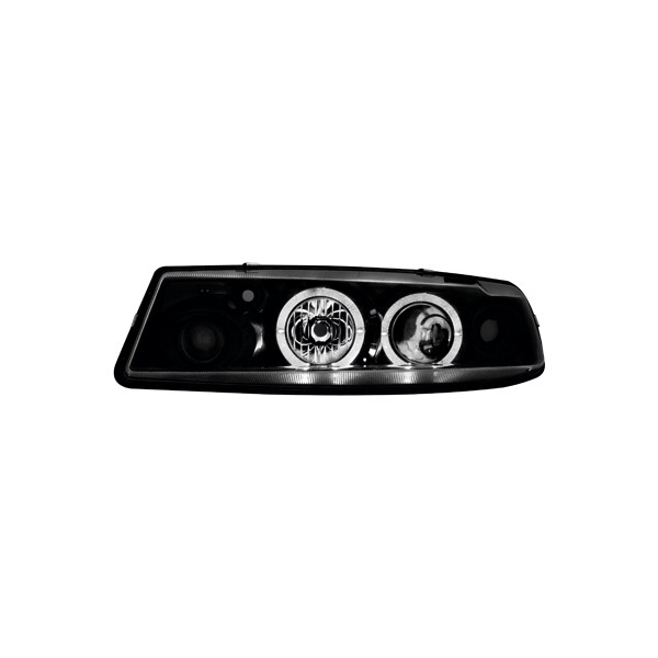 Headlights Opel Calibra Angel Eyes Black