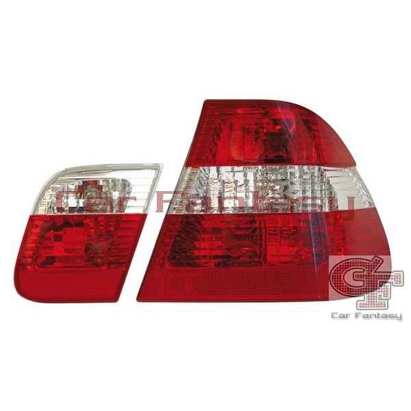 Taillights BMW E46 sedan 98-01 Red/White