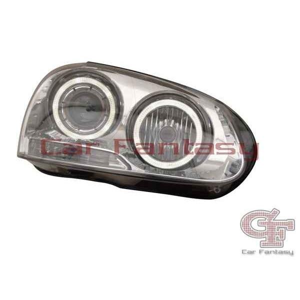 Headlights VW Golf V Angel Eyes Chrome