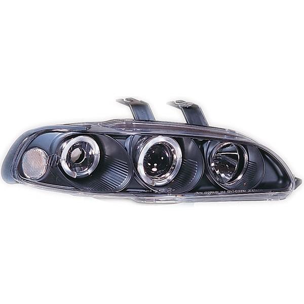 Headlights Honda Civic 92-95 2/3/4 door Angel Eyes Black