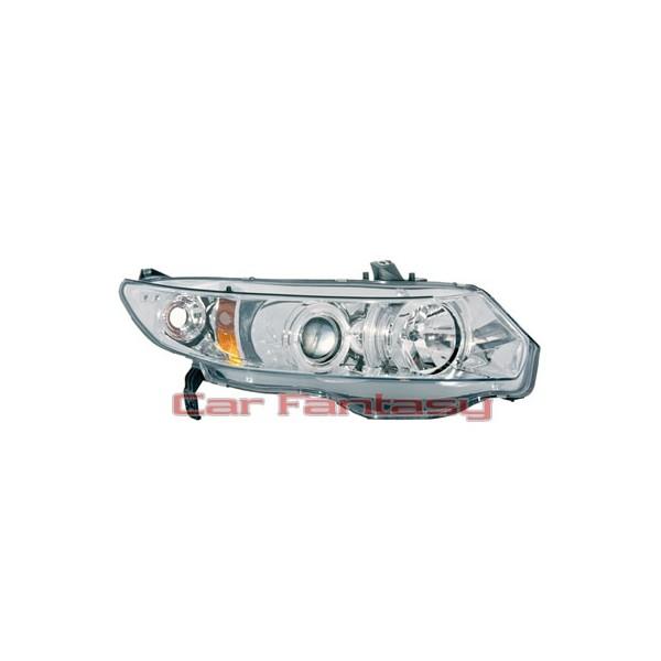 Headlights Honda Civic 2 drs 06-.. Angel Eyes Chrome