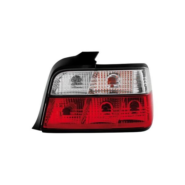 Ruckleuchten BMW E36 limousine klar red/white