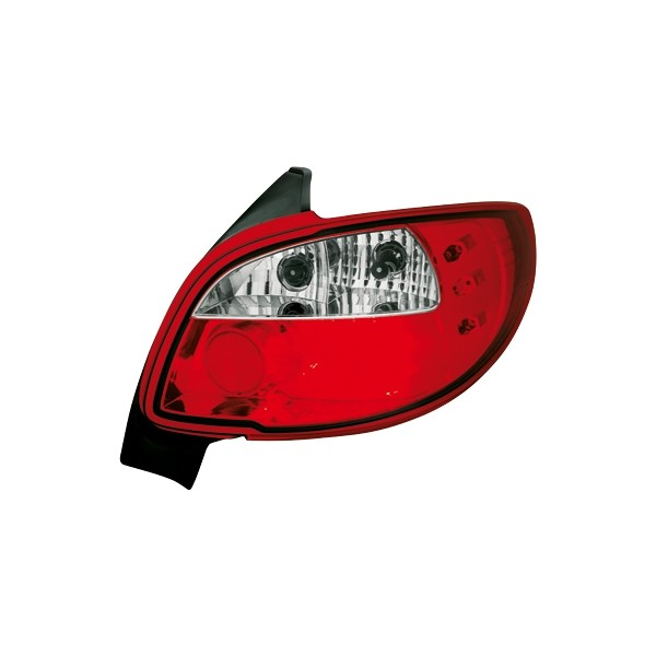 Taillights Peugeot 206 LED Red/White