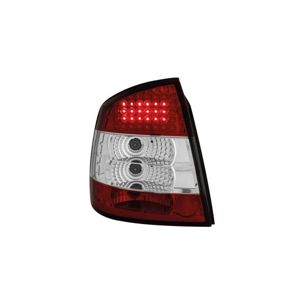 Taillights Opel Astra G LED Red/White