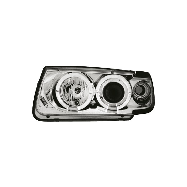 Headlights VW Polo 6N Angel Eyes Chrome