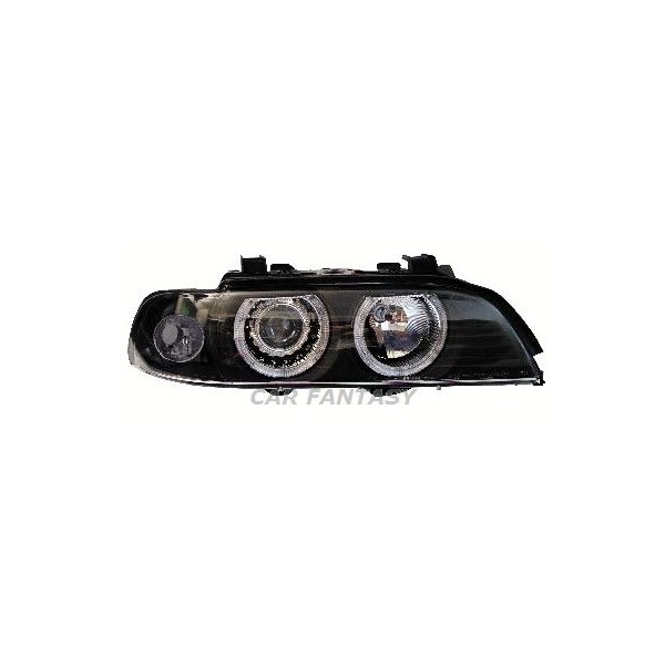 Headlights BMW E39 Angel Eyes Black