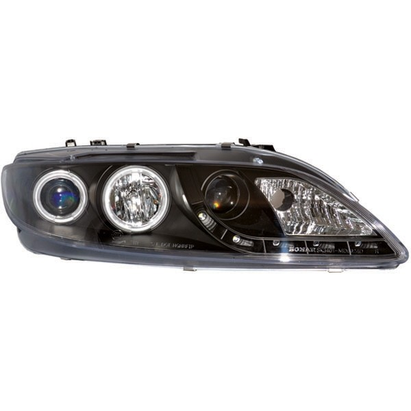 Headlights MAZDA 6 02-08 clear/black