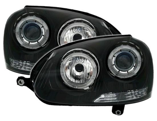 Headlights VW Golf V Angel Eyes Black