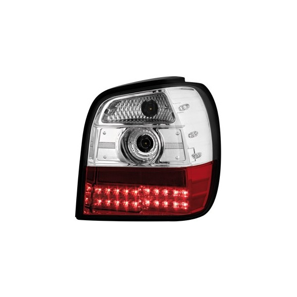 Taillights VW Polo 6N LED clear Red/White