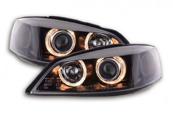 Headlights Opel Astra G Angel Eyes Black