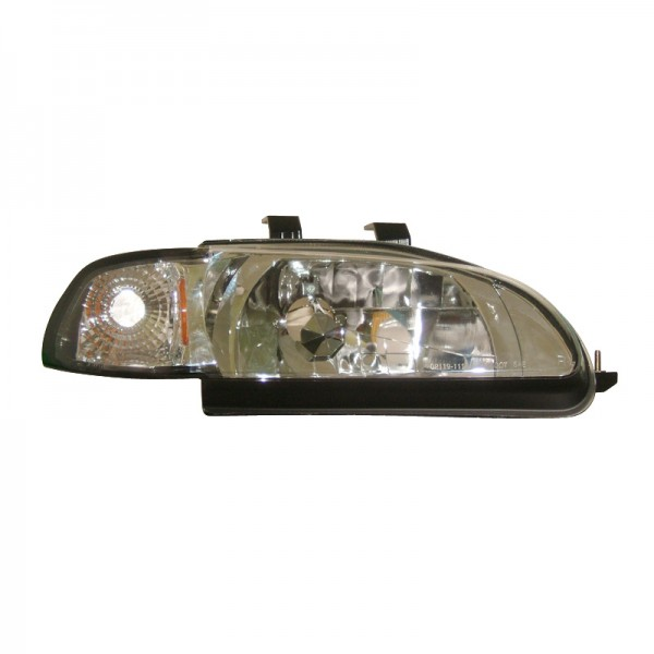 Headlights Honda Civic 4drs 92-95 Chrome + Indicators