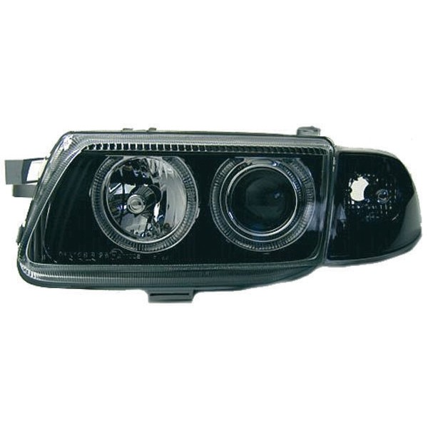 Headlights Opel Astra F Angel Eyes Black