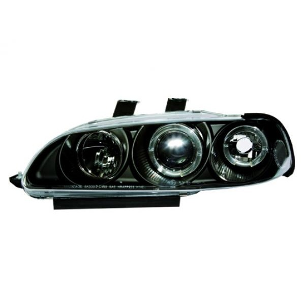 Headlights Honda Civic 92-95 4 door Angel Eyes Black