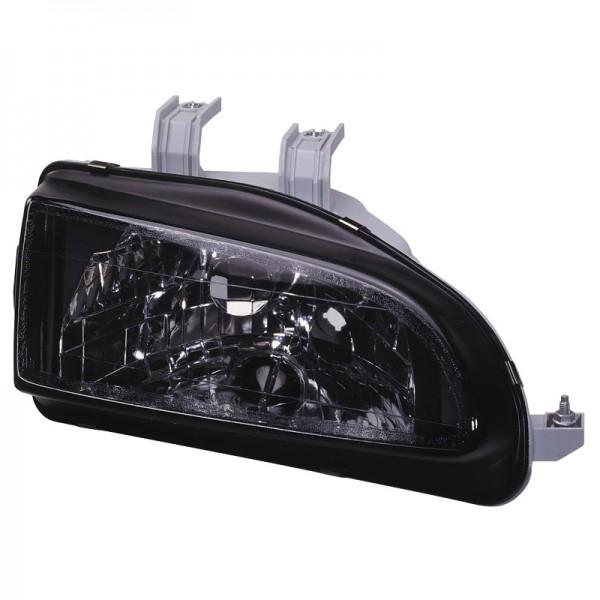 Headlights Honda Civic 92-95 Clear Black